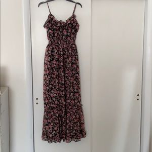Candies black floral spaghetti strapped